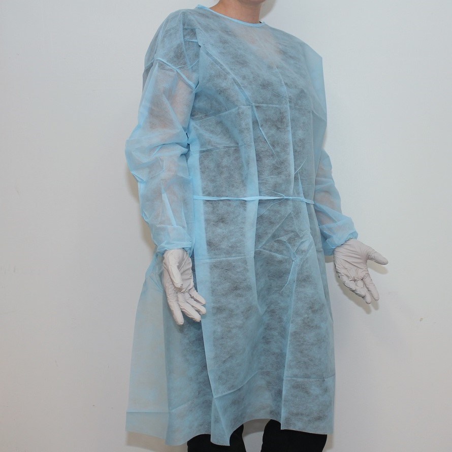 Tie back isolation gown Blue